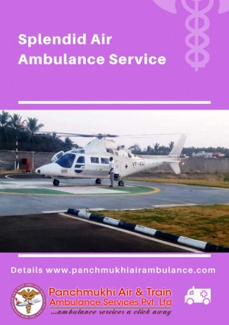 get-exceptional-air-ambulance-service-in-agra-by-panchmukhi-with-excellent-emt-specialist-big-0